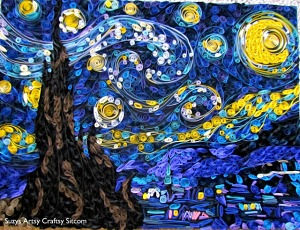 Starry Night made with paper! How to create this beautiful artwork.