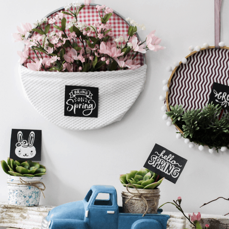 Make an Easy Embroidery Hoop Wall Art For Spring