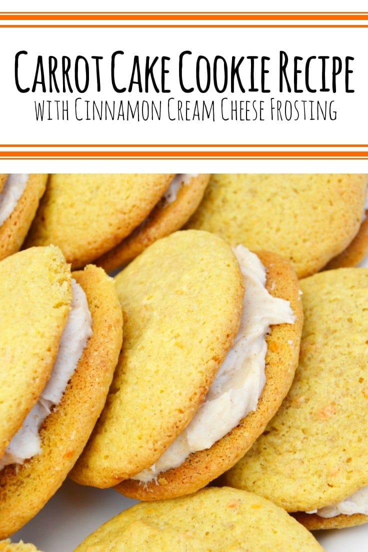 How to make carrot cake cookie sandwiches with cinnamon cream cheese frosting.
