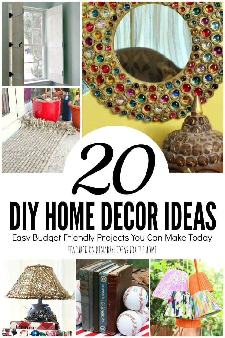 Learn how to turn ropes into a rug and 20 more cheap and easy DIY home decor ideas. All of these can be completed in less than a day!