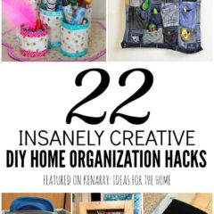 How do you keep your home organized? From the kitchen to the porch, these DIY home organization hacks will inspire you today.