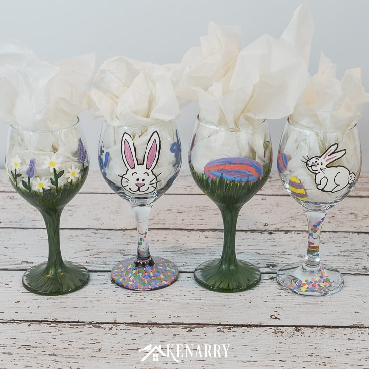 Easter Craft Idea Hand Painted Wine Glasses Ideas For The Home
