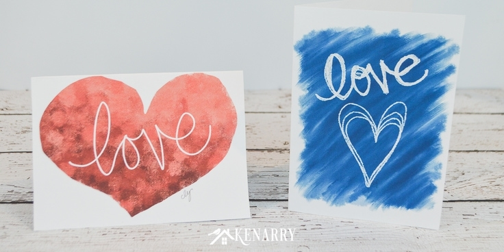Two free printable Mother's Day cards next to each other. They both say love.