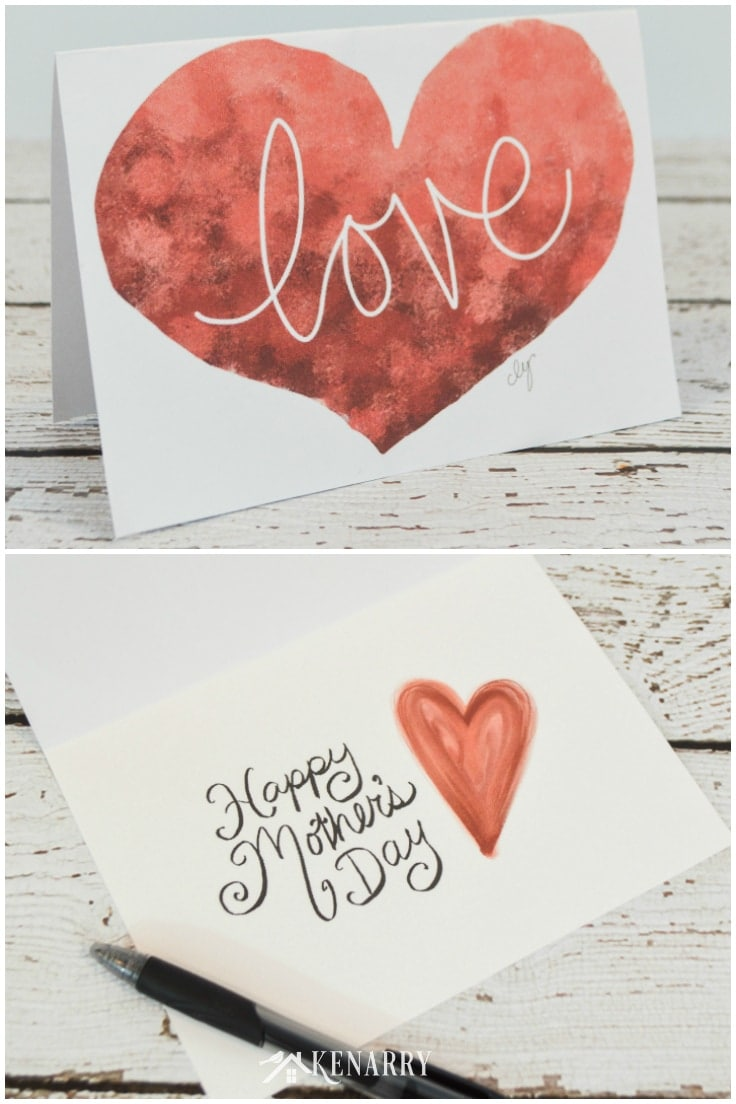 Show your mom you love her with one of these free printable Mother's Day cards. Attach a gift card, chocolates or flowers for a simple and easy gift idea.