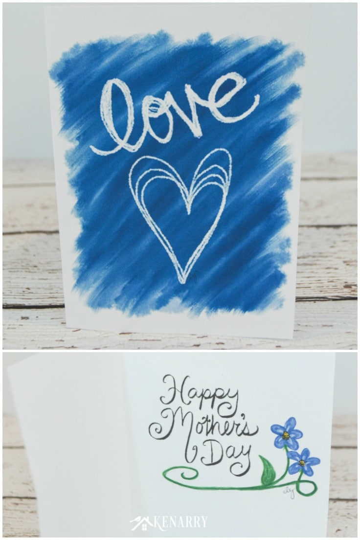 The inside and outside of this free printable Mother's Day card that says Happy Mother's Day on the inside.
