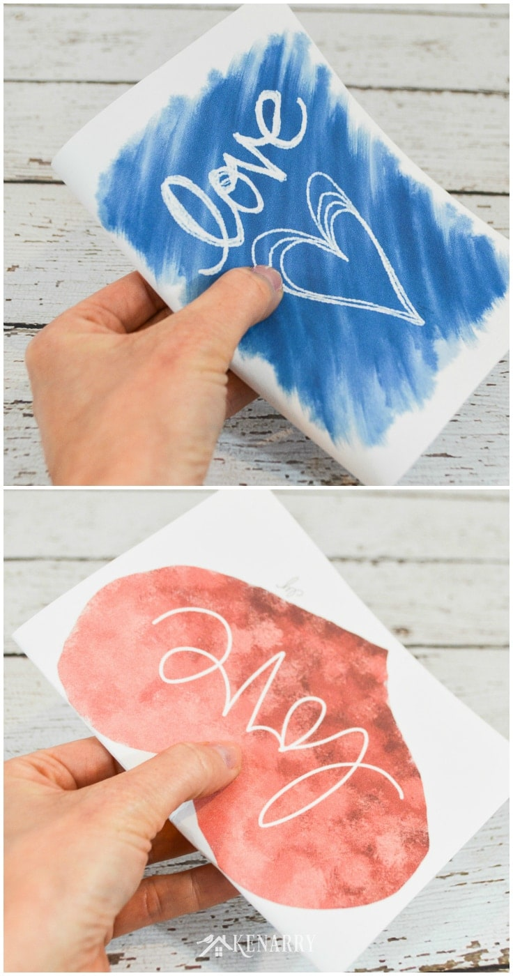 How to fold the DIY printable  mother's day cards.