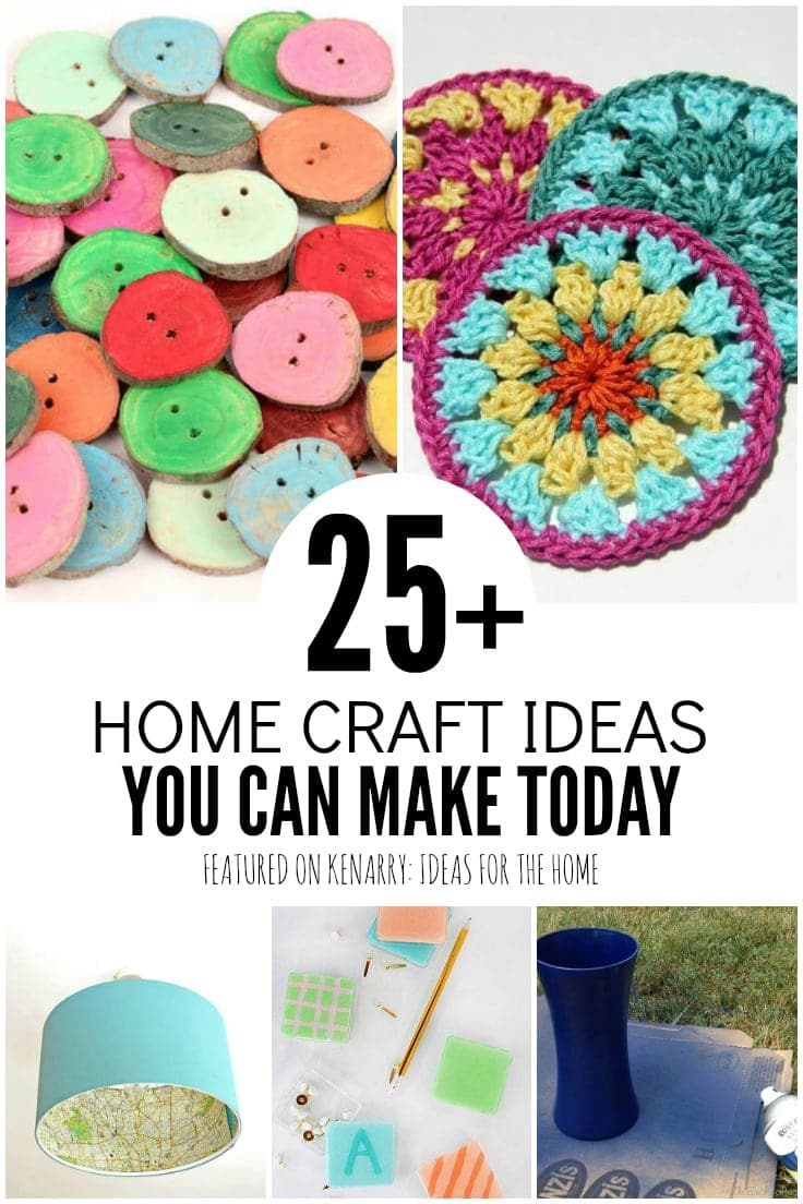 When you just want to stay inside and do crafts, pull up one of these home craft ideas. All of them are simple. And most of them can even be made into DIY gifts!