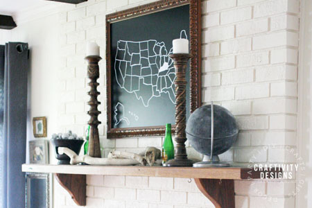 How to Paint a Brick Fireplace, by Craftivity Designs