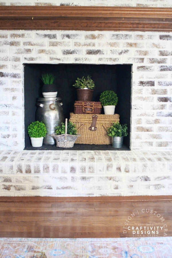 3 Non-Working Fireplace Ideas, Baskets and Plants in a Firebox, by Craftivity Designs