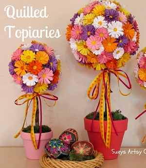 How to make beautiful paper quilled topiaries