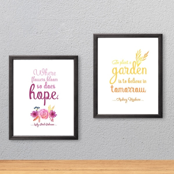 Click this photo to find printable spring wall art quotes.