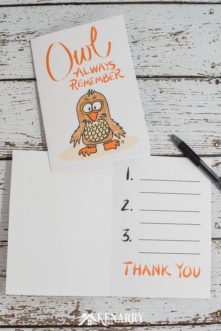 A printable teacher appreciation card that reads
