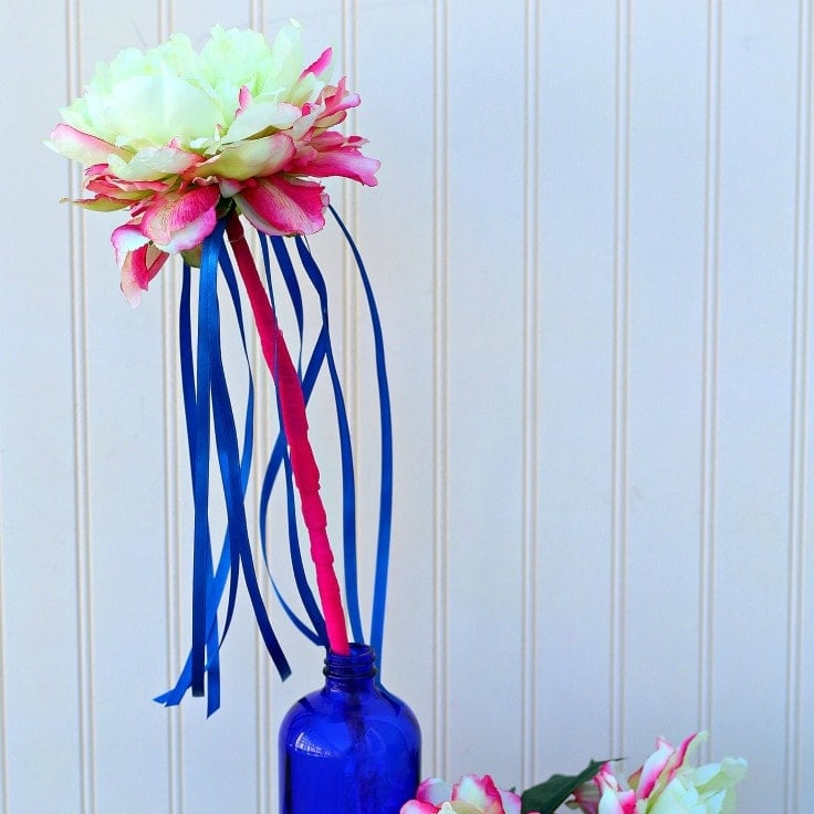 Spring Flower Wand with Ribbons