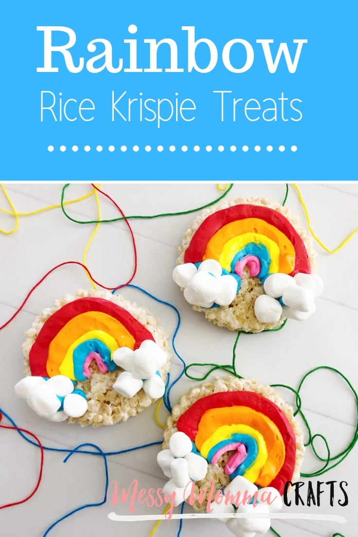 These Easy to Make - Rainbow Rice Krispie Treats are full of color and are really tasty. You'll want to eat the whole batch.