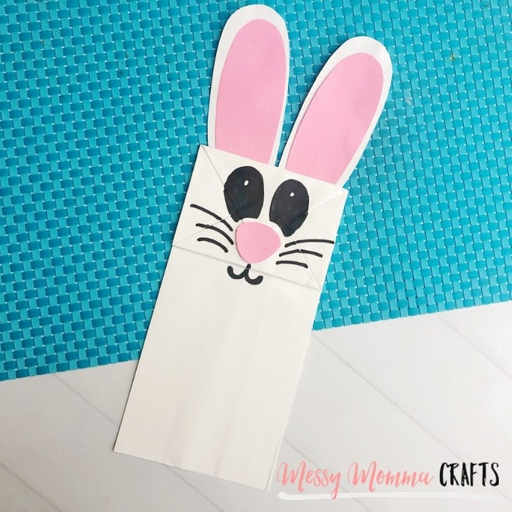 This easy Easter Bunny Bag Puppet is such a cute and fun craft to make with the family for Easter.