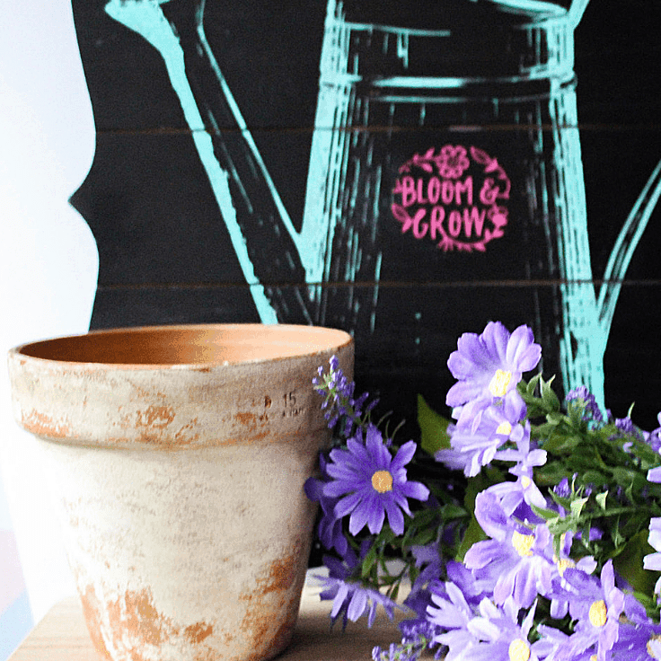 How To Easily Distress Terra Cotta Pots With Paint