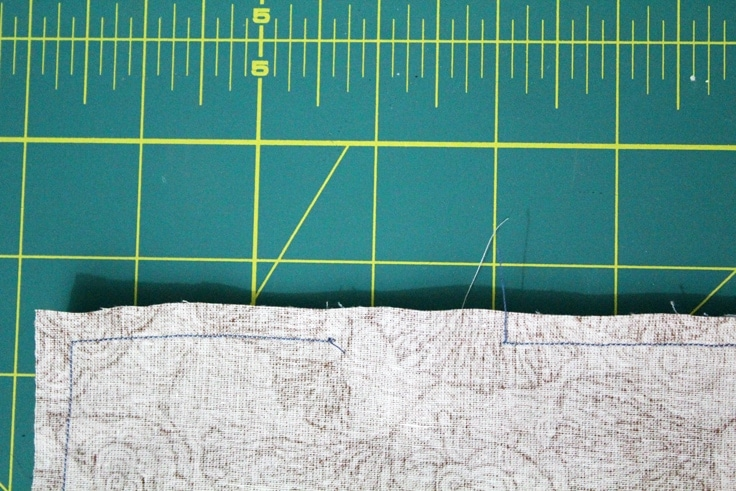close up of the seam with a gap