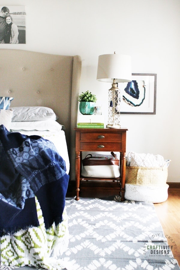 Master Bedroom featuring nightstand decor ideas by Craftivity Designs