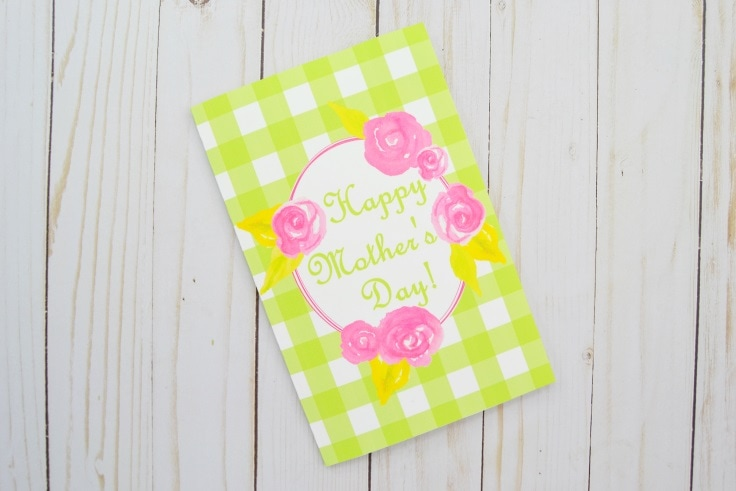 Printable Mother's Day Card that has been trimmed and folded in half