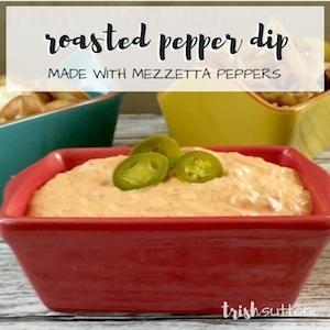 Roasted Pepper Dip; TrishSutton.com