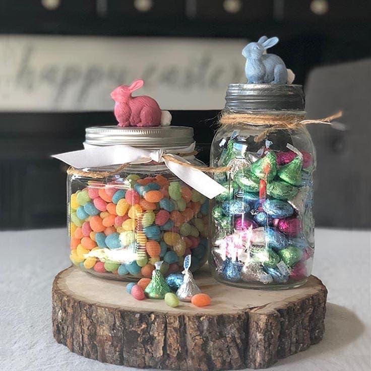 How to Make an Easy Springtime Bunny Candy Jar