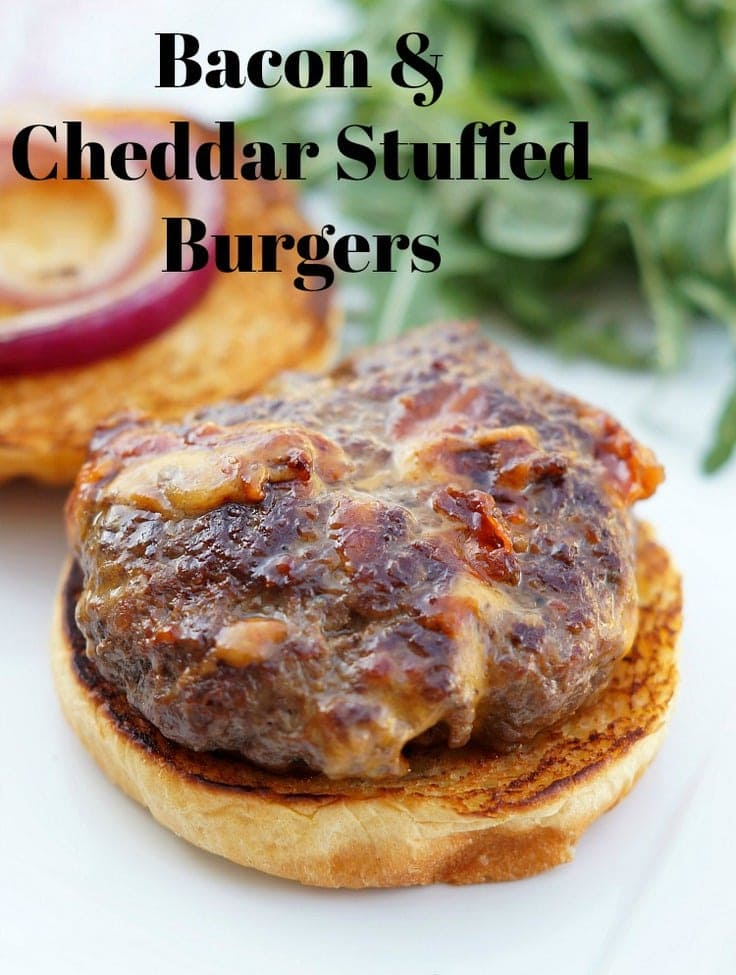 Bacon and Cheddar Stuffed Burgers