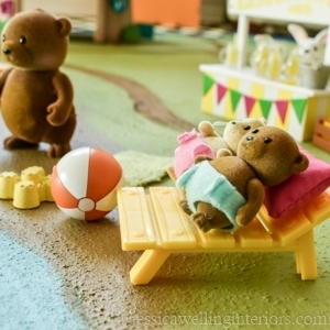 Create a painted play rug for Lil' Woodzeez, Calico Critters, Legos, Paw Patrol, and more!