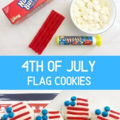 These 4th of July Flag Cookies are so simple and only require a few ingredients, plus they're a real crowd pleaser.