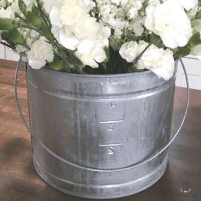 How to Age Galvanized Metal Pail by The Birch Cottage