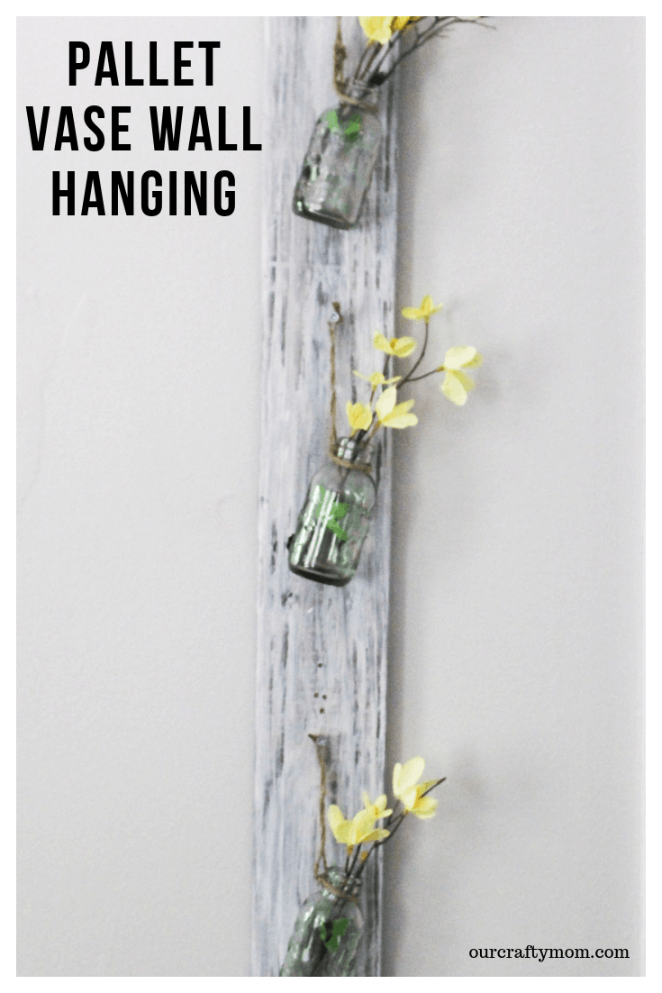 Pallet Vase Wall Hanging Decor