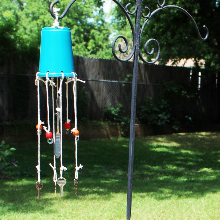 DIY Repurposed Wind Chime With Old Keys