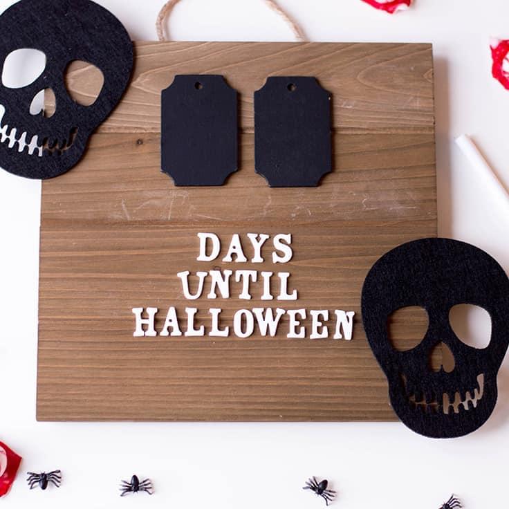 Spooky DIY: Simple Halloween Countdown Board