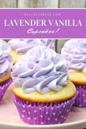 Lavender Vanilla Cupcakes recipe