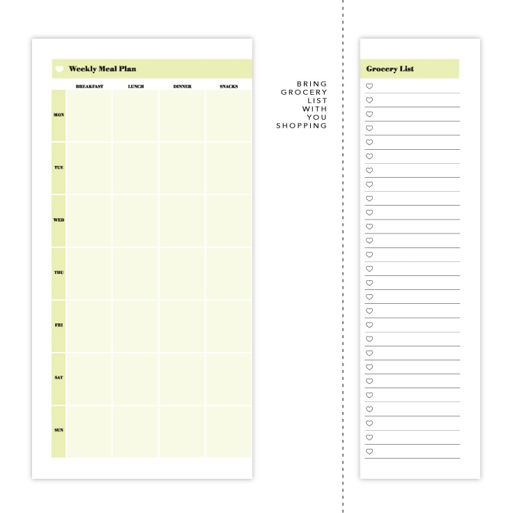 photograph about Weekly Meal Planner Printable named Evening meal Planner Template: Absolutely free Printable Obtain Recommendations for