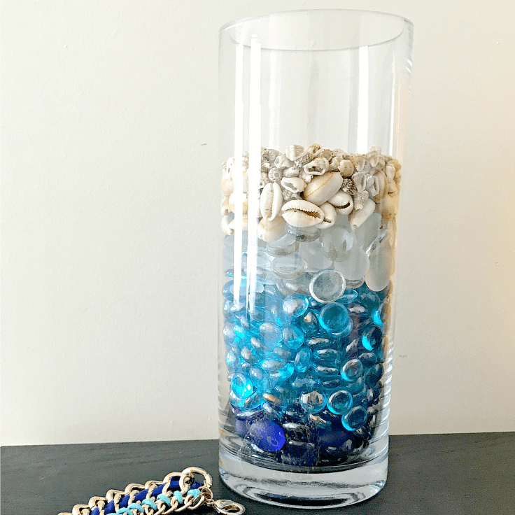 Put Shells in a Vase for a Fun Vacation Souvenir