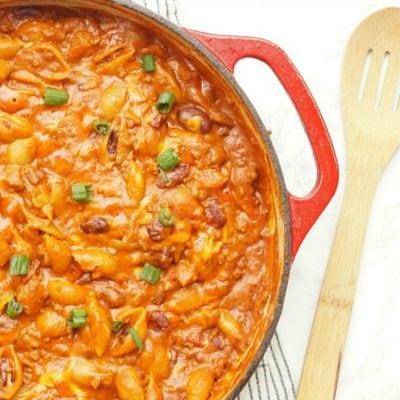 Cheesy Chili Noodles