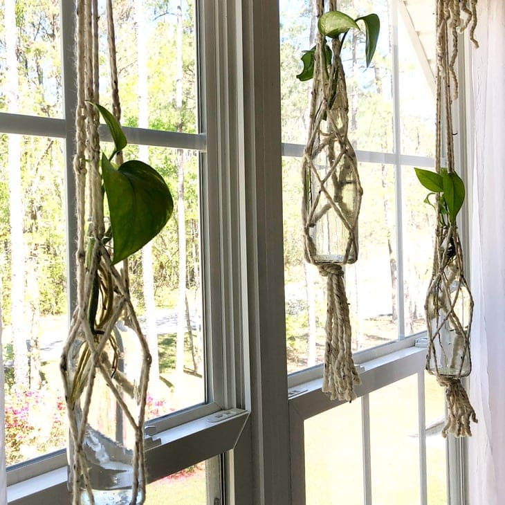 image relating to Free Printable Macrame Plant Hanger Patterns named How toward Produce a Macrame Plant Hanger with Basic Components