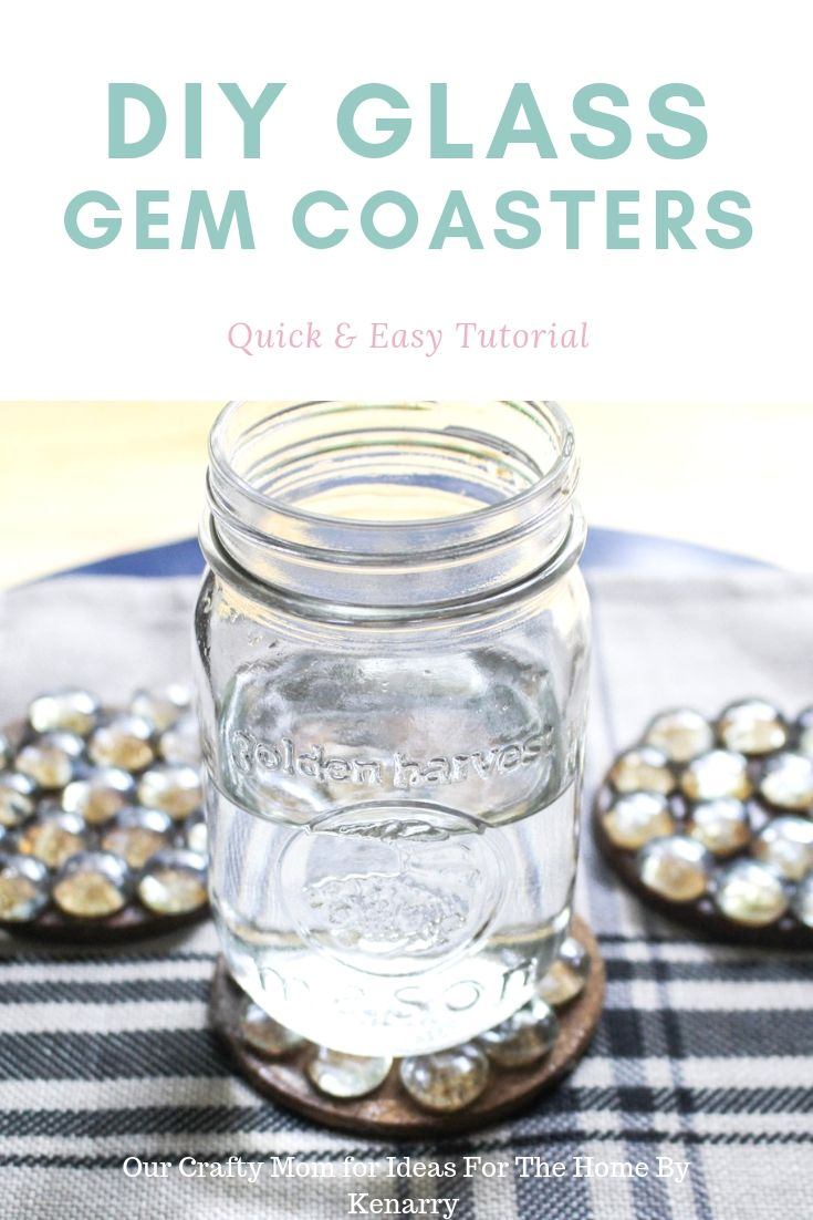 DIY glass gem coasters - a quick and easy tutorial.