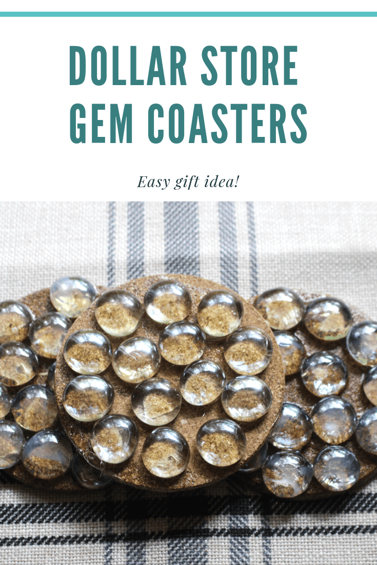 How to make Dollar Store Gem Coasters