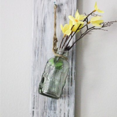 pallet wall hanging vase feature image