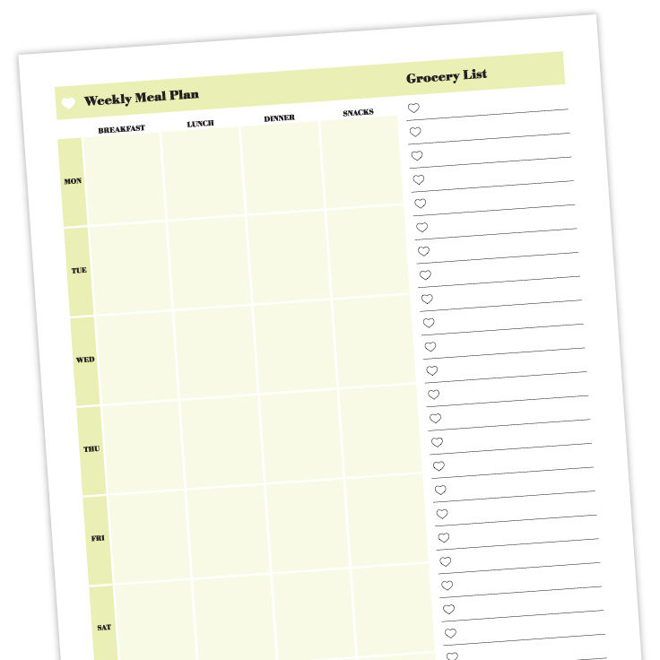 Meal Planner Template: Free Printable Download