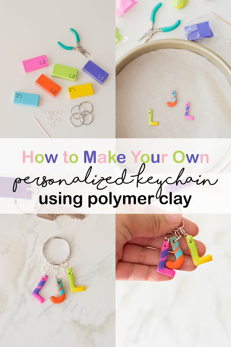 How to make your own personalized keychain using polymer clay.