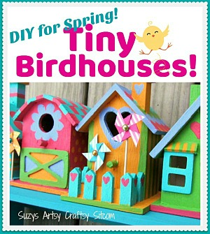 Create colorful stenciled birdhouses!