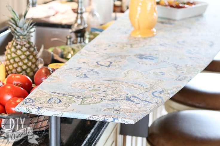 A fitted bar tablecloth