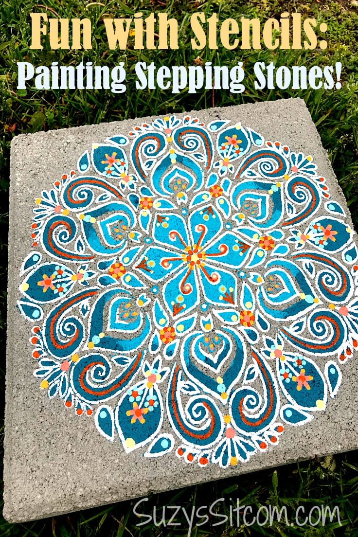 Painting elaborate designs using stencils as a base design is a simple method. This easy tutorial shows you how to create beautiful stenciled stepping stones for your garden!