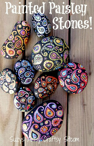 Decorative painting: how to create pretty painted paisley stones!