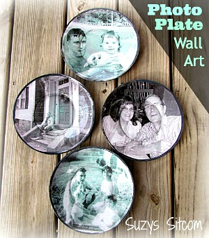 How to make pretty decoupage photo plates!