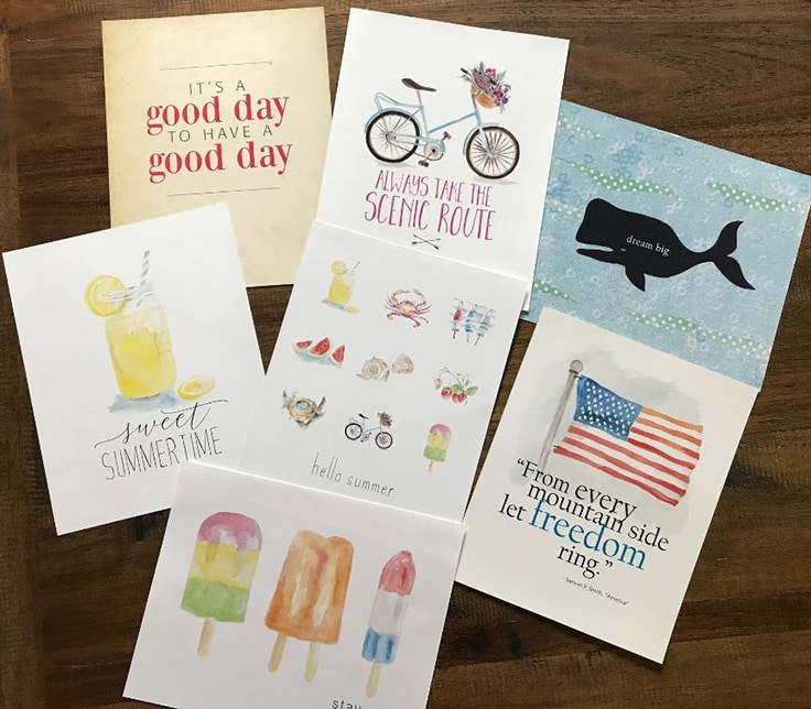 7 Printable Summer Art Prints