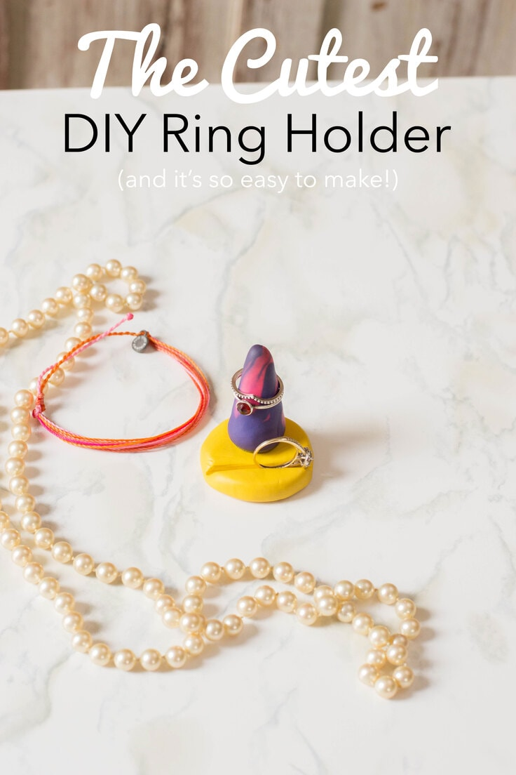 The cutest DIY ring holder and it's so easy to make.