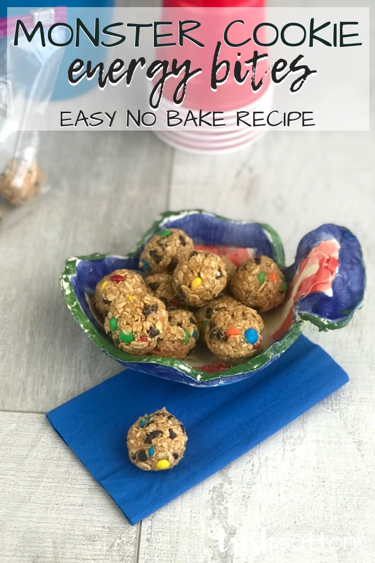Monster Cookie energy bites - easy no-bake recipe